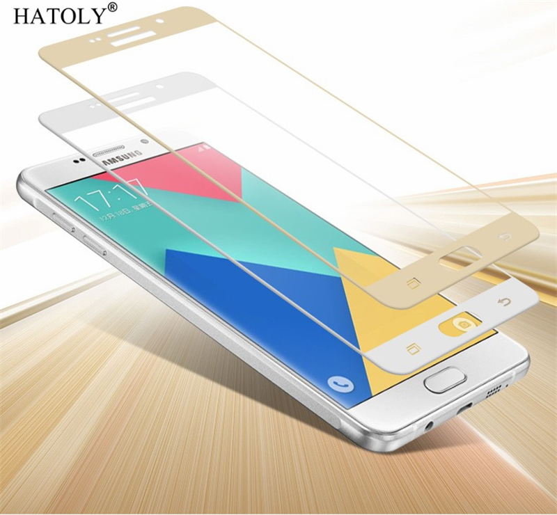 2PCS Tempered Glass For Samsung Galaxy A9 2016 Screen Protector A910 Full Cover For Samsung A9 Pro 3D Curved Edge Film HATOLY