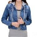 Long Sleeve Short Jeans Jackets Women Coat Blue Denim Jacket casacos femininos Blazezr Women's coats & Outwear Fashion Cardigan
