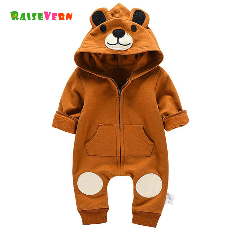 New Arrival Cute Newborn Winter Warm Jumpsuit Bear Pajamas Costume Kids Clothes Infant Baby Boy Girl Animal Long Sleeve Rompers 2017 new fashion cute rompers toddlers unisex baby clothes newborn baby overalls ropa bebes pajamas kids toddler clothes sr133