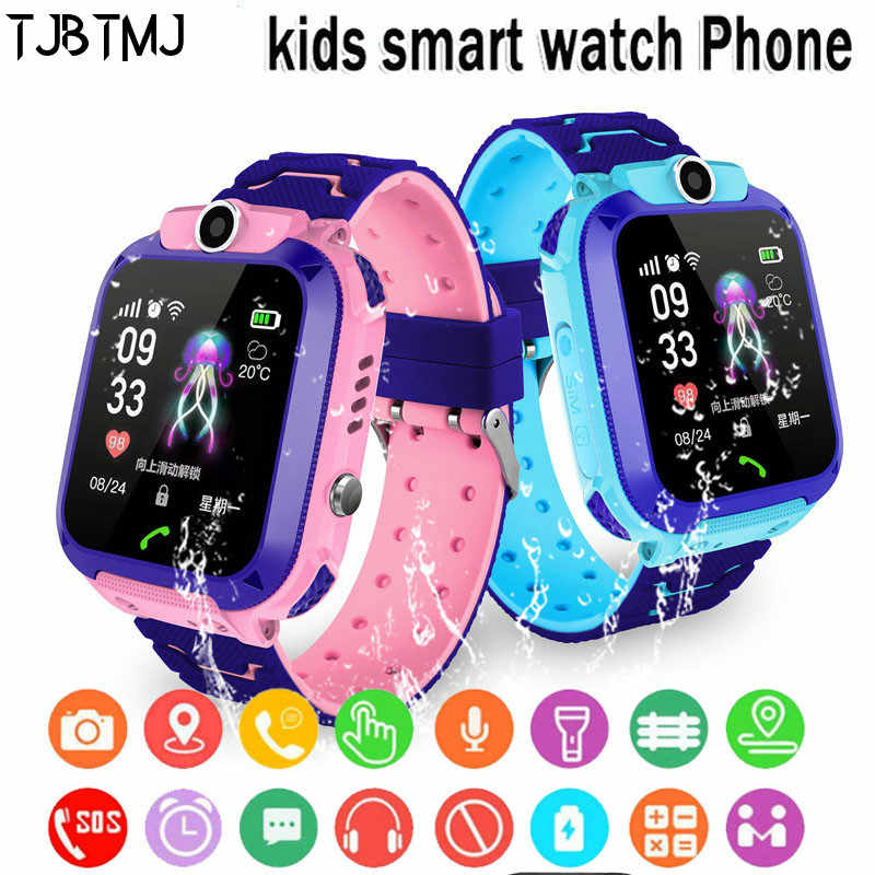 Smart Watch IPX7 Waterproof Smart watch Touch Screen SOS Phone Call Device Location Tracker Anti-Lost childs kids smart watch