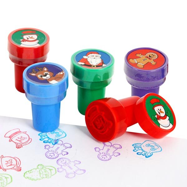8PCS/Lot. 4 design mixed Christmas stamper Christmas toys,Christmas crafts.KIds toys,Paint toys.Santa crafts.2.5x3.7cm.