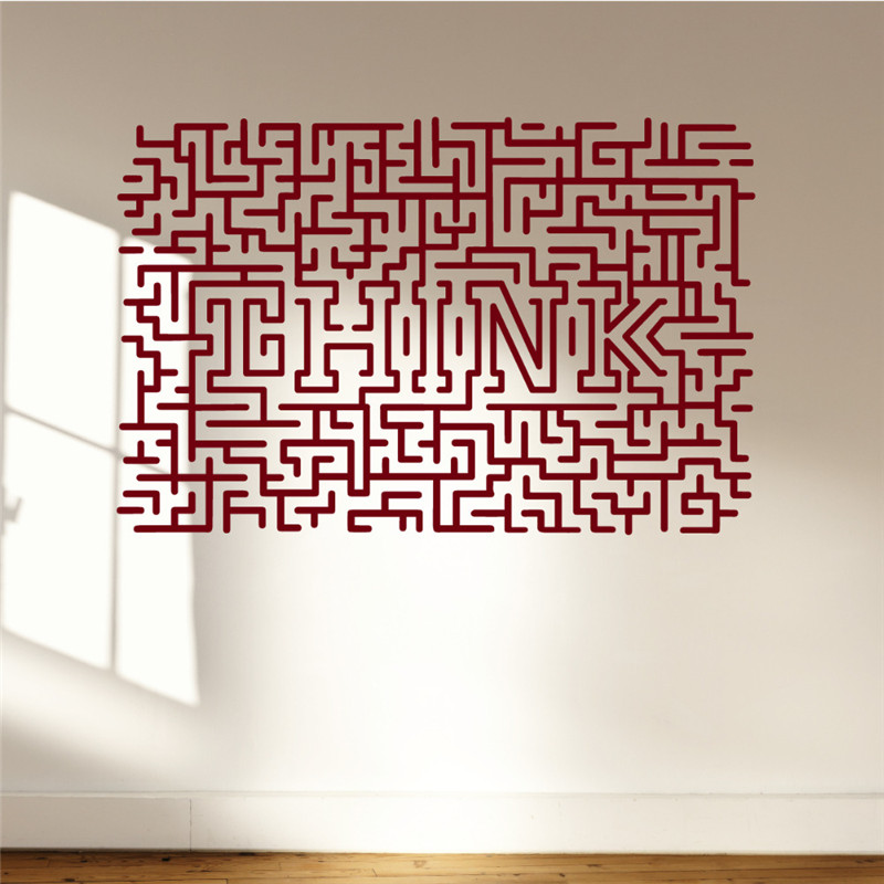 Easy Removable Think Art Stickers Home Decor Living Room Maze Wall Decal Bedroom For Office Custom Color Available Decals