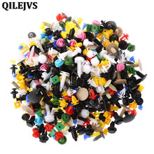 500 Pcs/Set Universal Mixed Color Car Plastic Bumper Rivets Automotive Door Trim Panel Clip Fasteners Retainer Push Pins
