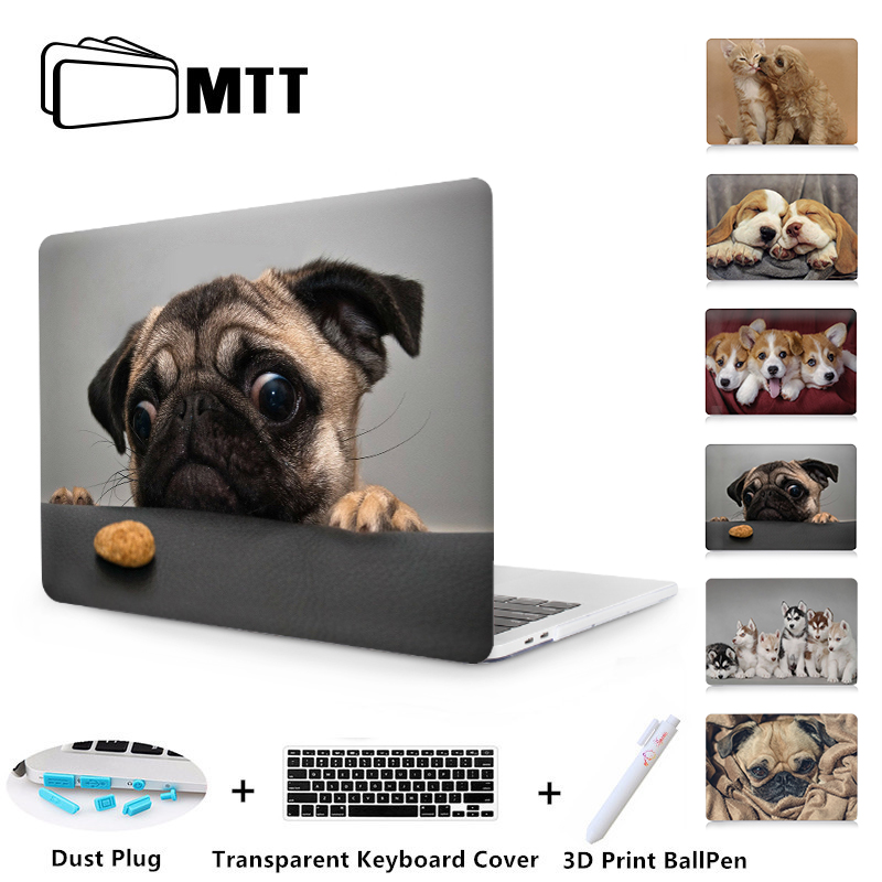 MTT Laptop Case Cover For Macbook Air 11 13.3 Pro 13 15 Retina Cute Dog Shell For Apple Mac Book Cover 12 Inch Laptop Bag Sleeve