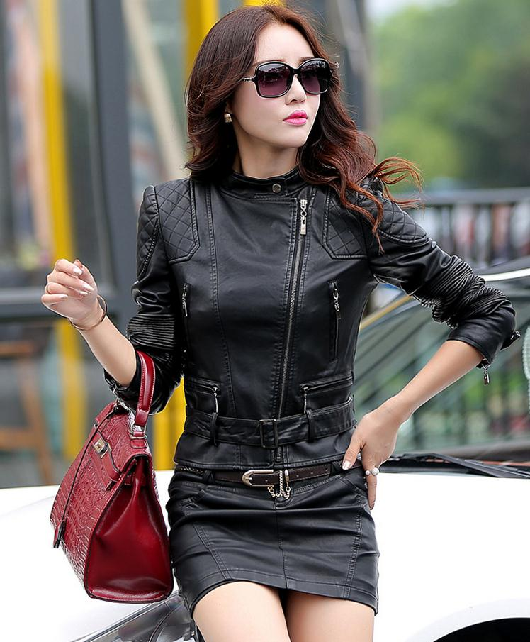 Aliexpress.com : Buy Free Shipping Women Leather Jacket Spring ...