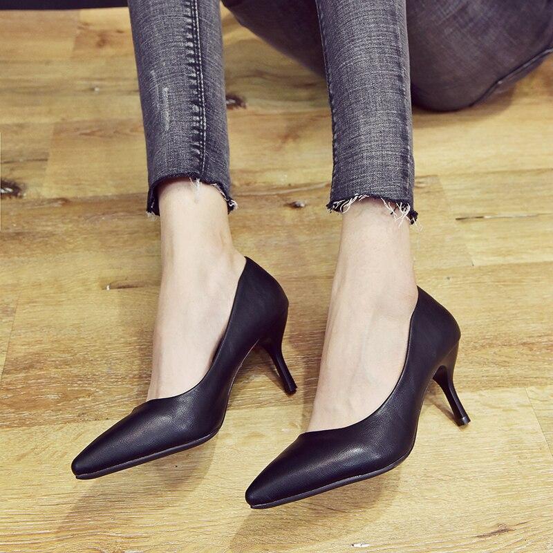 5 Elegante Tacones black Mujeres 7 5 7 Las Y Negro Dama Clásico 5 Mujer De en Slip Superficial Cm 2019 Oficina La 5cm 3 Cm Gris Finos grey Simple 5cm black 3 Moda 5cm 5cm 3 7 5cm Zapatos wqx18g8z