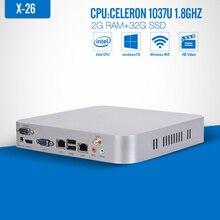 Mini pc windows 2*RJ-45 Celeron C1037U 2G RAM+32G SSD+WIFI Industrial Thin client tablet pc Windows 7/8 Opeating system