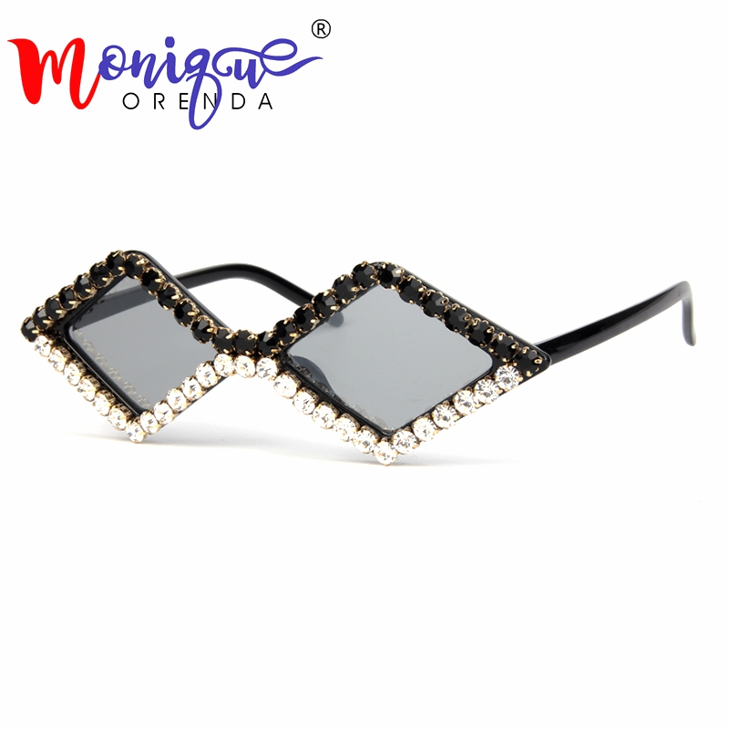 2018 triangle cut luxury Rhinestone cat eye sunglasses women small black vintage cheap sun glasses For Kids oculos de sol