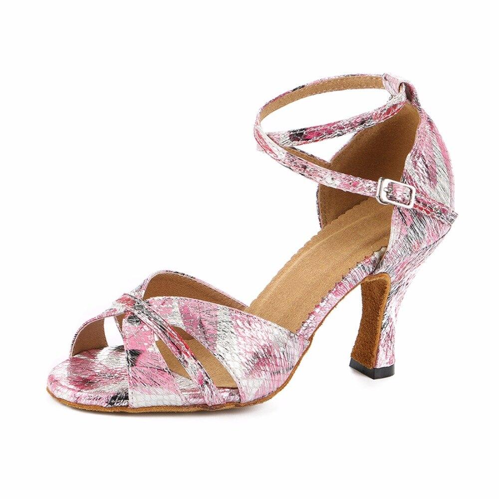 Woman Latin Ballroom Dance Shoes Female Social Party Salsa Shoes Samba  Tango Dance Shoes High Heel b9b9ba365813