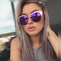 2017 New Flat Mirror Sun Glasses For Women Gold Frame lunette Metal Cateye Shades Chic Ladies Vintage Sunglass oculos de sol