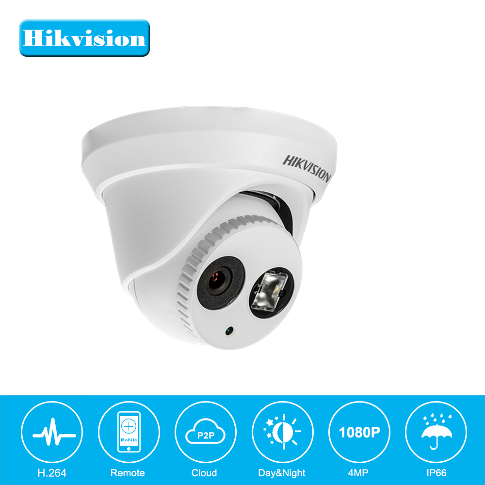 In Stock Hikvision Turret CCTV Camera Onvif DS-2CD2342WD-I 4MP WDR EXIR Dome PoE IP Camera Outdoor Night Vision Cloud Storage newest hik ds 2cd3345 i 1080p full hd 4mp multi language cctv camera poe ipc onvif ip camera replace ds 2cd2432wd i ds 2cd2345 i