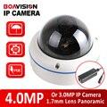 XMEYE Dome 3MP 4MP Câmera IP POE Ao Ar Livre Onvif Fisheye lente 2592*1520 CCTV Câmera De Segurança de 360 Graus Panorâmica Vista P2P nuvem