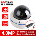 XMEYE Dome 3MP 4MP IP Camera POE Outdoor Onvif Fisheye Lens 2592*1520 CCTV Security Camera 360 Degree Panoramic View P2P Cloud