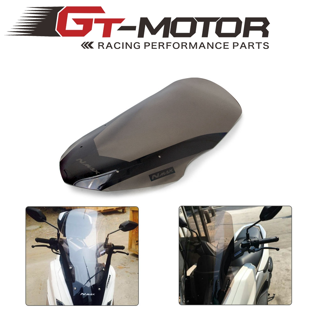 Motorcycle Windscreen <font><b>Windshield</b></font> Deflector Wind Shield Screen For <font><b>Yamaha</b></font> NMAX155 N-MAX 125 NMAX125 <font><b>NMAX</b></font> 155 2016 2017 2018 image