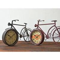 Kreatywny Metal Rowerów Budzik Zegar Ścienny Retro Rowerów Projekt Rzemiosła Żelaza Wiszące Zegary Ścienne Home Decor 0772