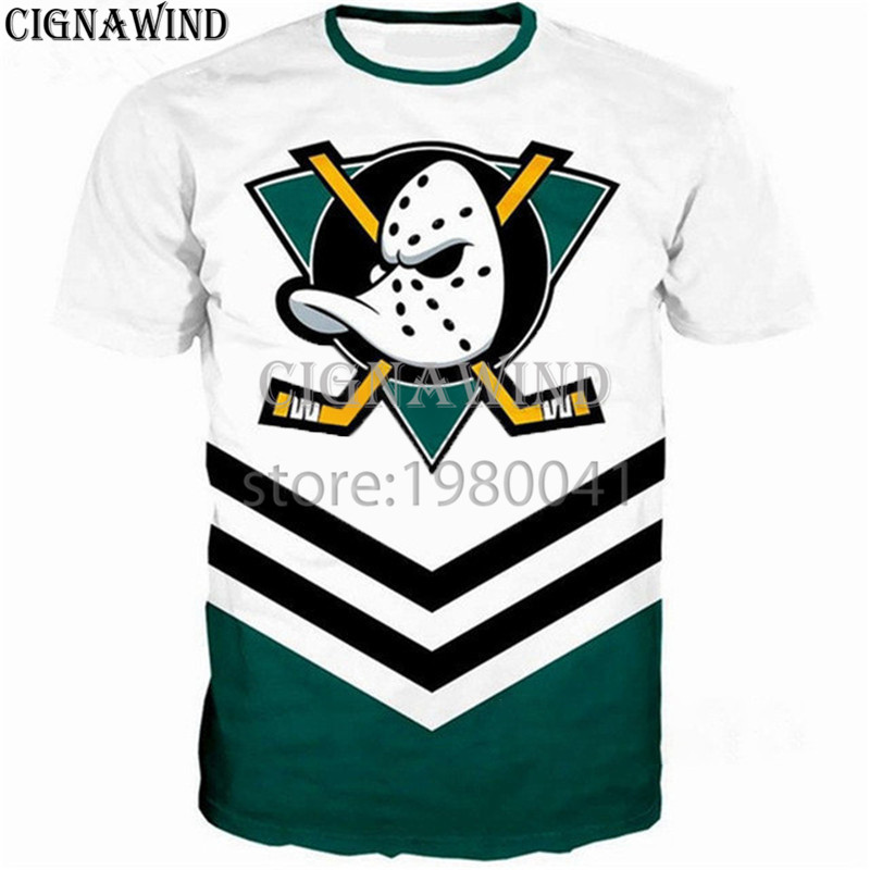 5833b04603bd New fashion t shirt Men Women 3D Printed Anaheim Ducks t-shirts funny style