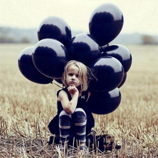 10 pçs/lote 10 polegada 1.5g Preto de Látex Balão de Hélio Crianças Fontes do Partido de Aniversário de Casamento Decoração de Bola Inflável Balão de Ar