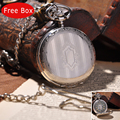 Silver Shield Full Hunter Men Pocket Watch With Chain Necklace Women Fashion Mechanical Hand Winding Pocket Watch Vintage PW028