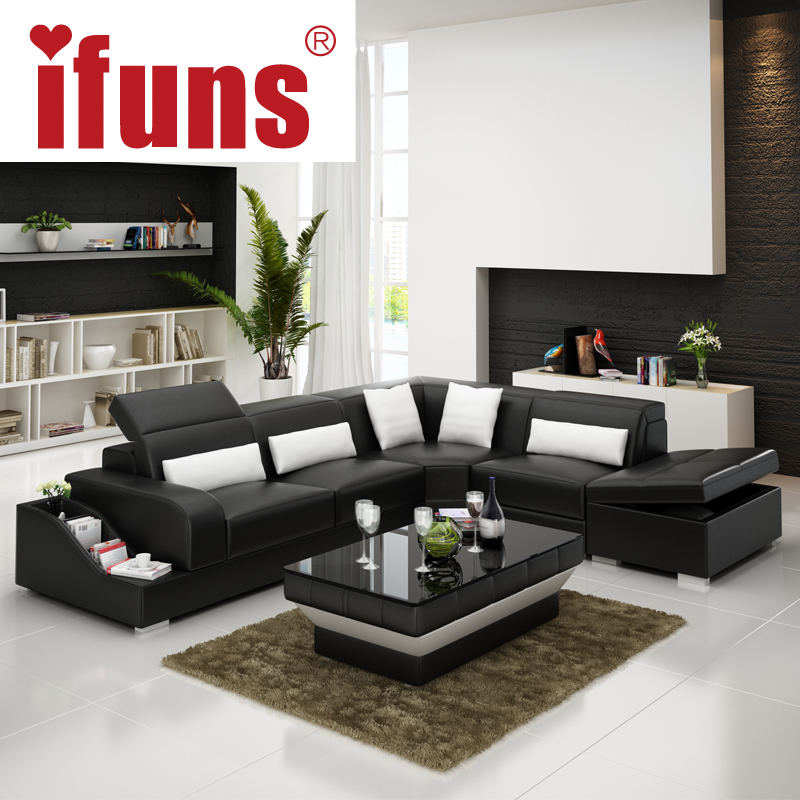 IFUNS recliner leather corner sofa seteuropean style l shape