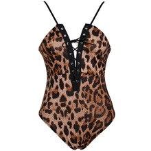 Sexy Lingerie Underwear Babydoll Bodysuits Leopard Leather Erotic Women Pole Dancing Costumes Sleepwear Dress Porn