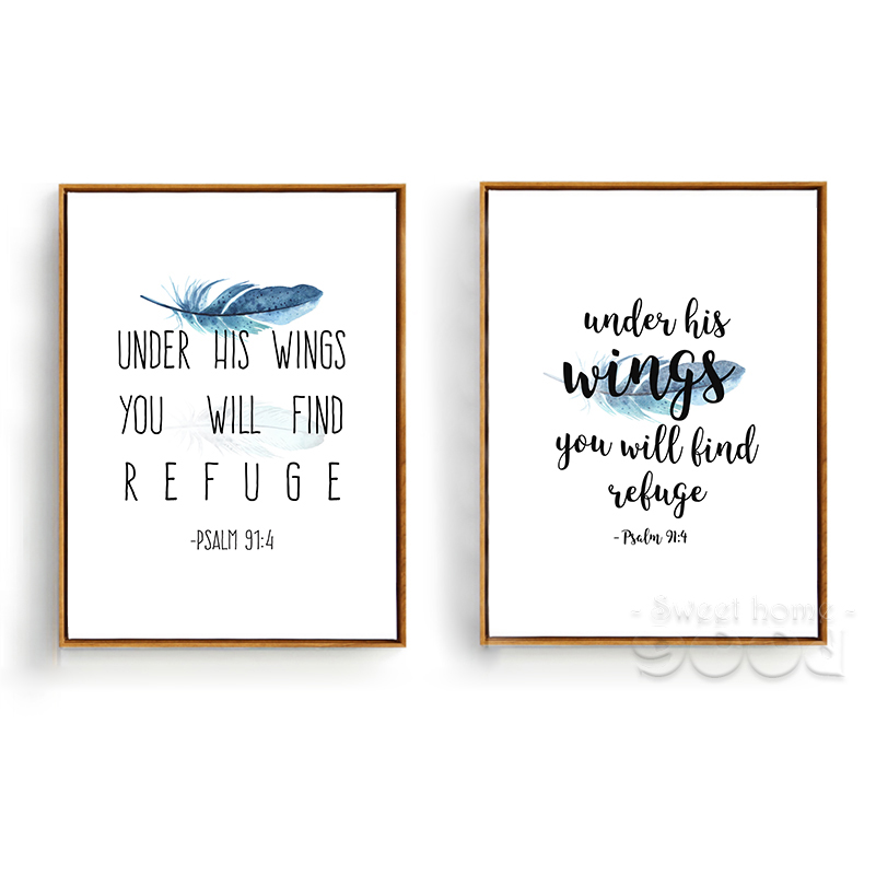 Bible Verse Canvas Art Print Poster Wall Pictures For