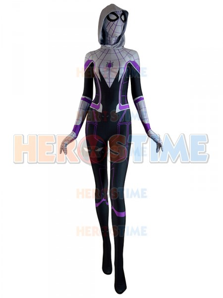 3D Printed Homecoming Spider Gwen Zentai Spiderman Costume ...