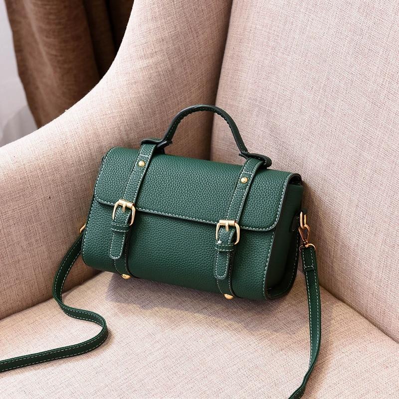 Winmax 2018 new spring England Vintage Women Messenger Bag Leather Retro Satchel Cover Handbag Pillow Women Shoulder milk Bag