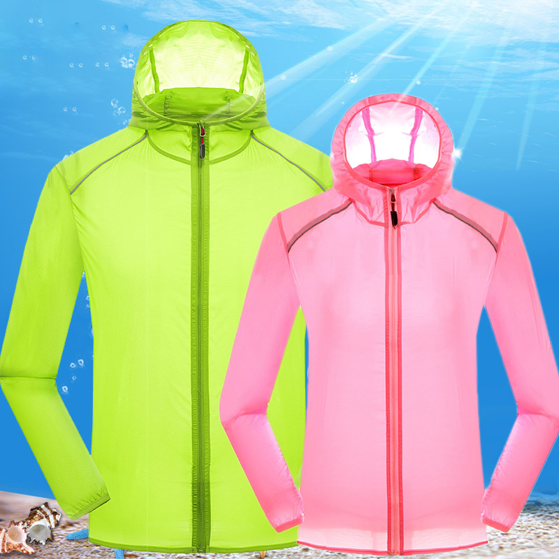 Spring Summer Sun-Protective Clothes Men Women Windbreaker Jackets Outdoor Sports Uv protection Super Light Quick drying Jacket