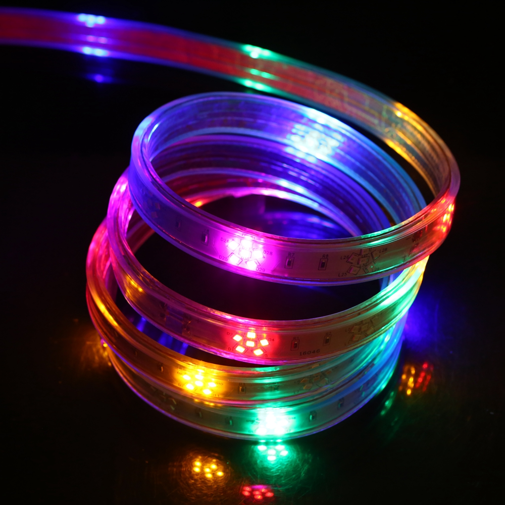 Waterproof 220V 2835 Horse Race LED Strip Light 120Leds/m Decorative Rope 5 Colors(Red + Green + Blue + Yellow + Purple ) 1-100m