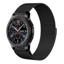 En Acier inoxydable Bracelet Bracelet Pour Samsung Gear S3 Frontière/Classique Milanese Boucle magnétique Avec Connecteur Adaptateur