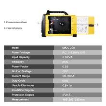DEKO MKA-200 200A 4.9KVA IP21S Inverter Arc MIG 2 IN 1 Electric Welding Machine w/ Replaceable Welding Gun MMA Welder