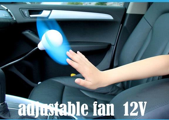 2013 New Powered Mini Automobile Fan Car fan vehienlar 6 mini electric fan single cold mute fan 12v