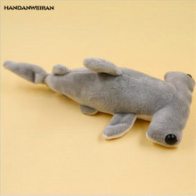 HANDANWEIRAN 1Pcs Hot Kawaii 20CM Cute Flat Shark Stuffed Toys Marine Series Pendants Plush Toy Dolls For Kids Gifts PP Cotton