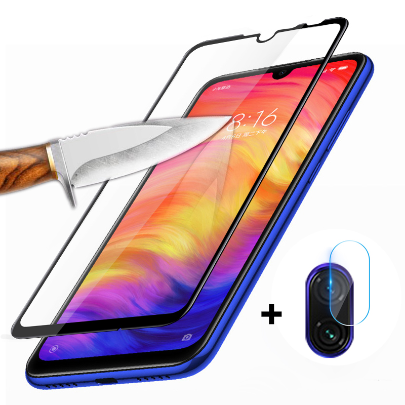 2 In 1 Full Screen Protector Film For Xiaomi Redmi 7 Note 7 Pro Camera Lens Protective Glass Redmi 7A 5.45 Note 7 6.3 Glas Film