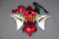 Red Silver Injection Fairing Body Work Frame Kit for HONDA CBR1000RR CBR 1000 CBR1000 RR 2008 2009 2010 2011