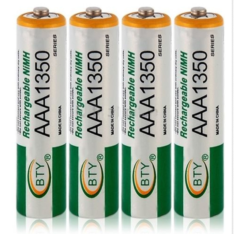 Free shipping 4pcs BTY Ni-MH AAA 1350mAh 1.2V Rechargeable Battery аккумулятор 4pcs bty 8000mah d 1 2v hr20 ni mh d bty c battery
