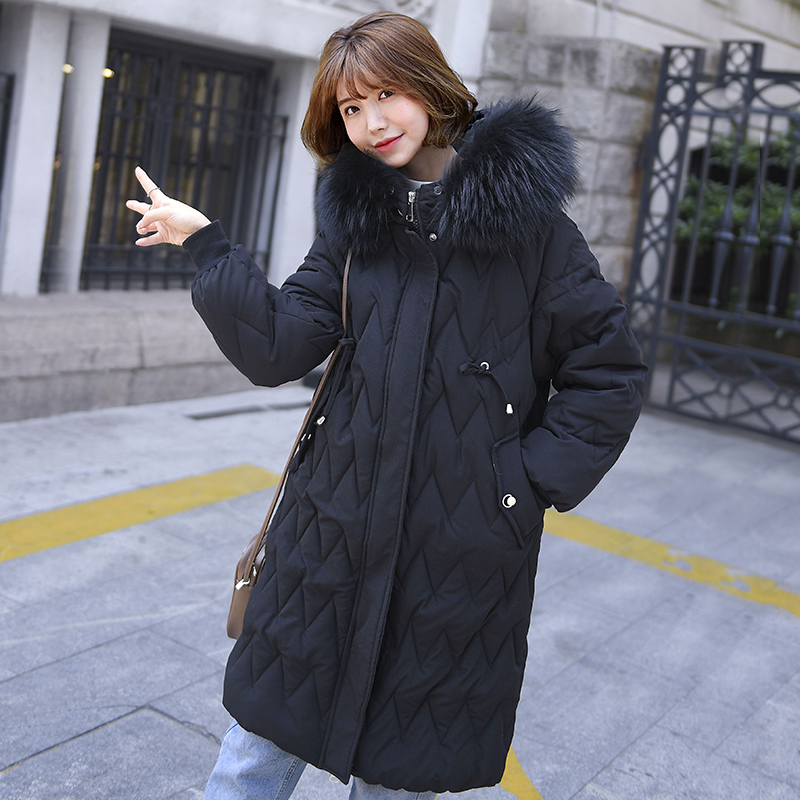 Brieuces New Collection Winter Women Jacket Coat Original Fur Collar Women Parkas Fashion Brand Womens Cotton Padded Jacket in Parkas from Women 39 s Clothing