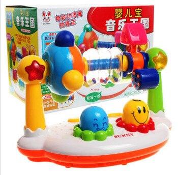 Brinquedos Do Bebê Musical Música Rotating Iluminação Aptidão Quadro Bebê Brinquedos Educativos Com Caixa de Presente