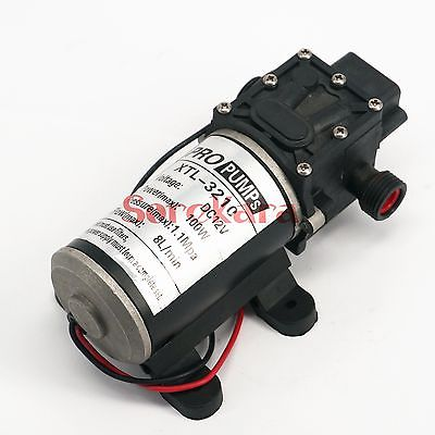 T-HD 1/2 BSP Male DC 12V 100W Self-priming Booster Diaphragm Water Pump Backflow Control 300L/H For Car washing