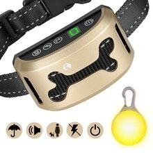 Pet Dog Anti Bark Collar Waterproof Rechargeable Dog Pet Control Train Vibration Stop Barking Training Collars Bone Adjustable цена