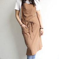 Pure Cotton Apron Japanese Casual Craft Cooking House Shop Painters Workwear