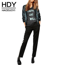 HDY Haoduoyi Autumn Fashion Women Blingbling sequined outwear coats casual Loose Bomber Jackets for wholesale and free shipping