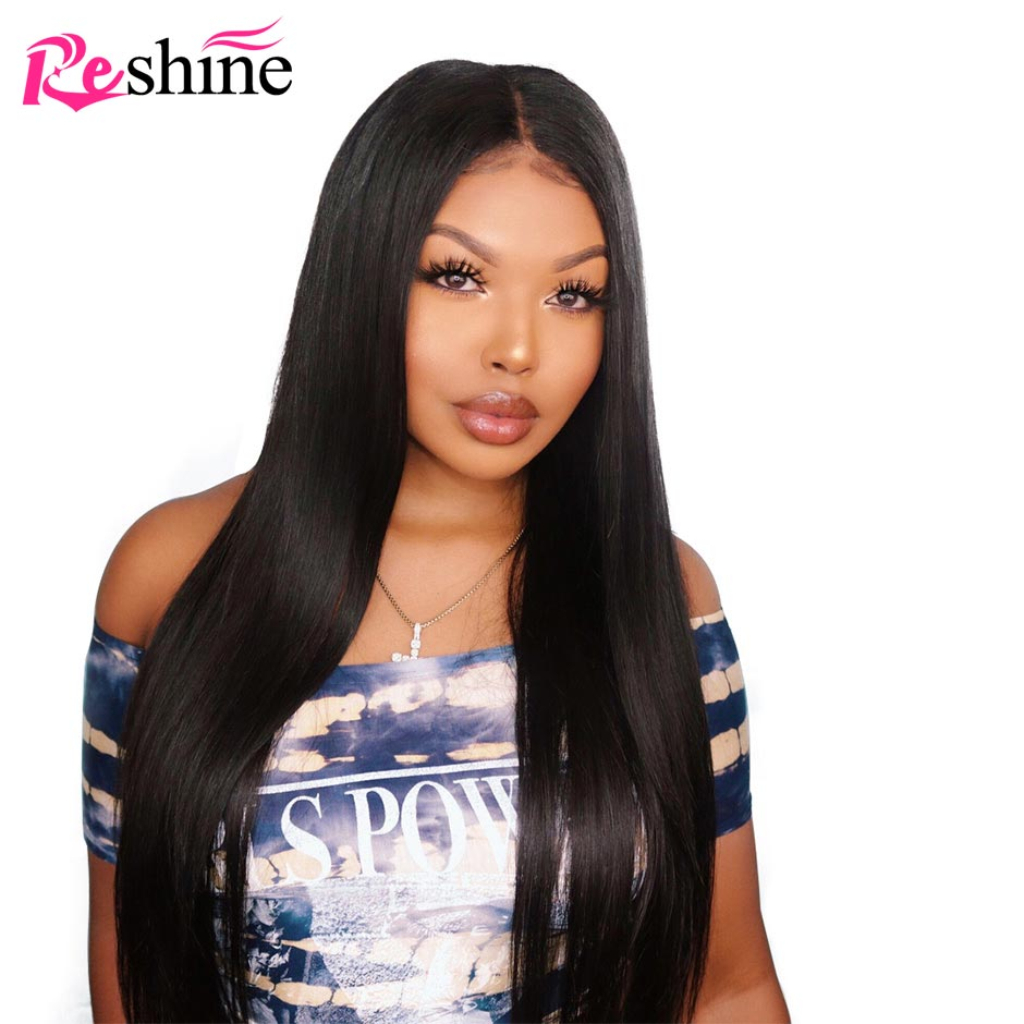 Straight Hair 13 6 Lace Front Wig With Pre Plucked Hairline For Brazilian Human Hair Lace