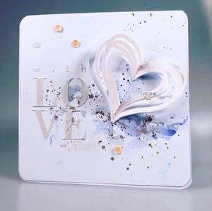 Image 2 - Matrices de découpe en métal artisanal, moule de découpe en forme de cœur décoration Scrapbook en papier, couteau artisanal, moule de lame, pochoirs de poinçon