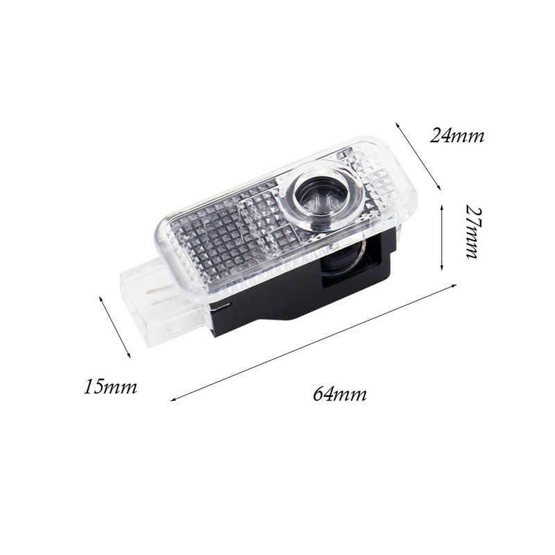 2 * светодиодный Дверь Добро пожаловать Лазерная двери крышка лампы Автомобильный светодиодный проектор автомобиля светодиодный световой знак лампа для Audi A3 A4 A5 TT Sline двери logo свет