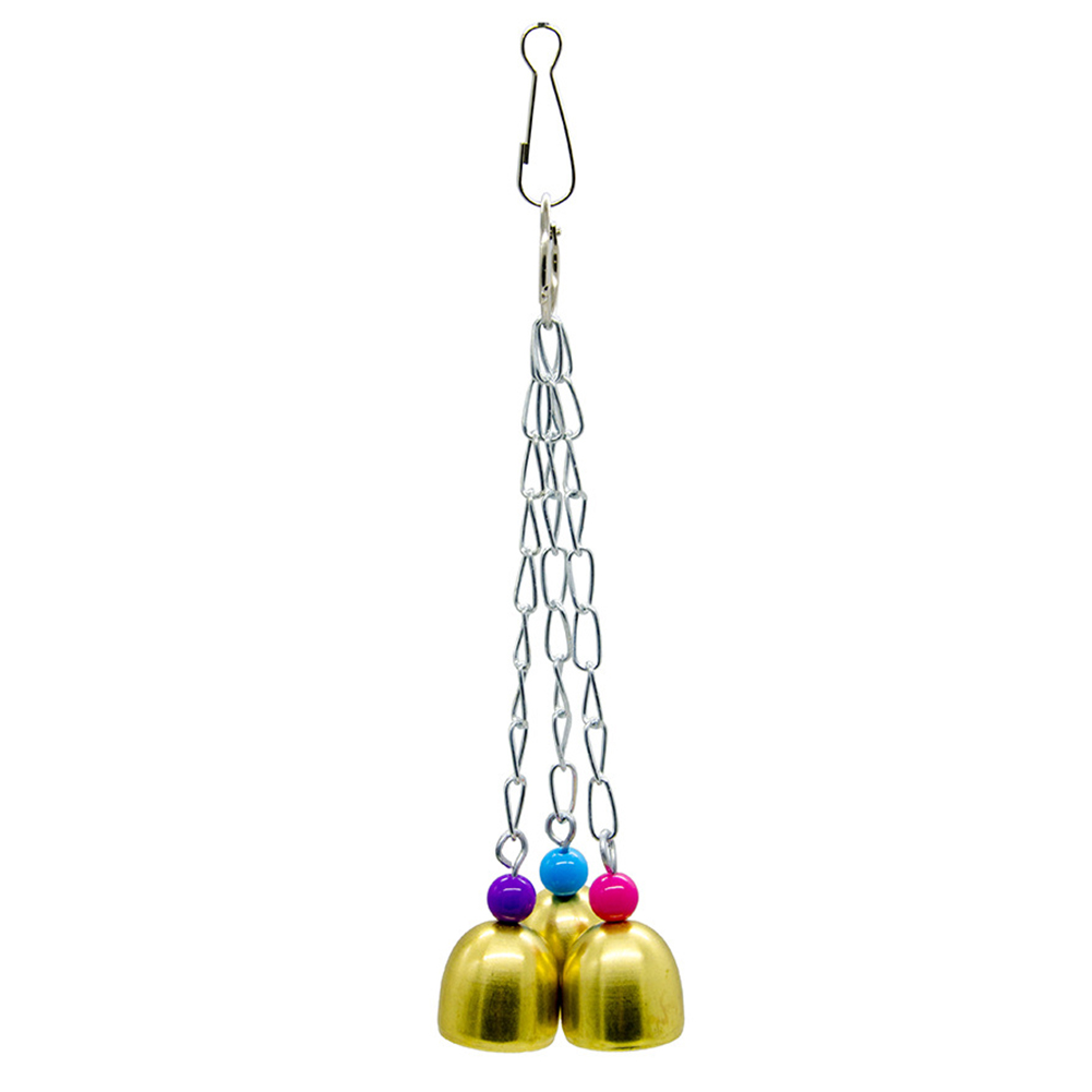 Parakeet Parrot Cage Bell Stack Budgie Bird Toy Swing Perch Pet Products