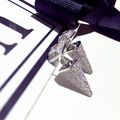 Europe and the Trend Micro / zircon APM star with 925 Silver Triangle cone full CZ diamond earrings and female