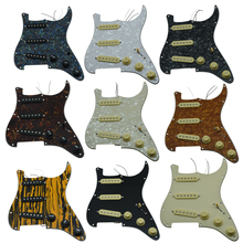 KAISH Various Loaded Strat SSS Pickguard Prewired ST with Pickups Fits for Fender
