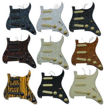 1ply cream yellow alnico prewired loaded pickguard KAISH Various Loaded Strat SSS Pickguard Prewired ST Strat Pickguard with Pickups Fits for Fender