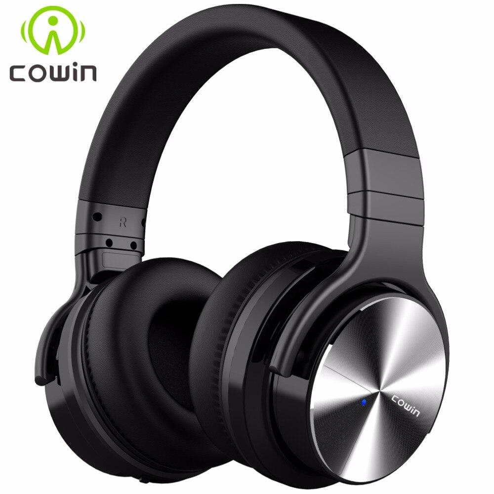 Cowin E7Pro Active Noise Cancelling Fones de Ouvido Bluetooth Sem Fio Sobre A Orelha fone de Ouvido Estéreo com microfone para celular